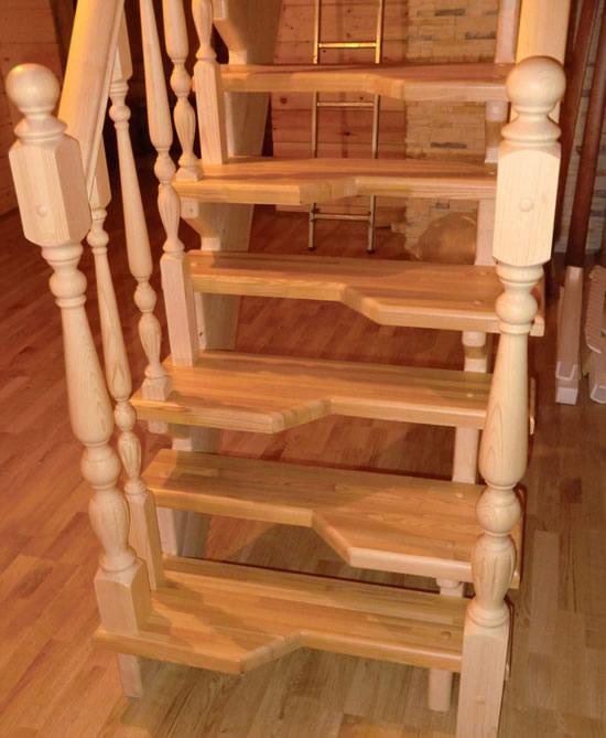 Лестница своими руками гусиный шаг