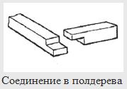 408Угловое соединение бруса в полдерева